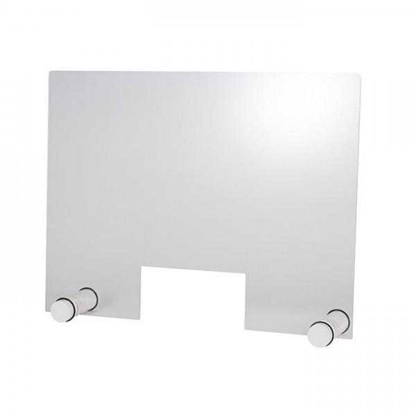 Hygieneschutzwand Round White 75x57 cm mit Öffnung