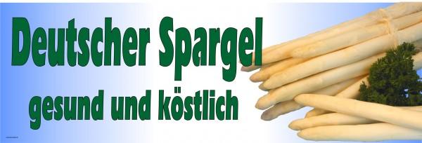 Standardbanner Motiv: Deutscher Spargel 300x100 cm