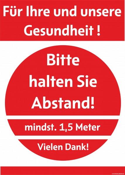 """Plakat """"Bitte Abstand"""""""