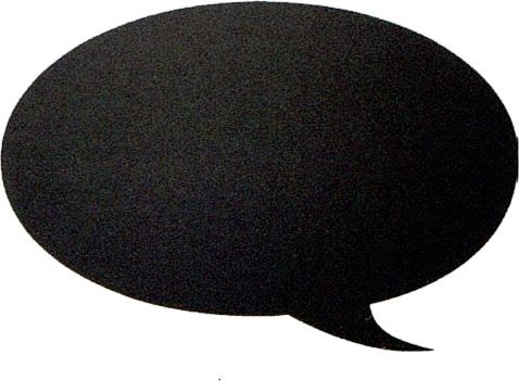Silhouette-Tafel, Bubble inkl. Mini-Kreidemarker