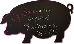 MDF-Tafel Schwein