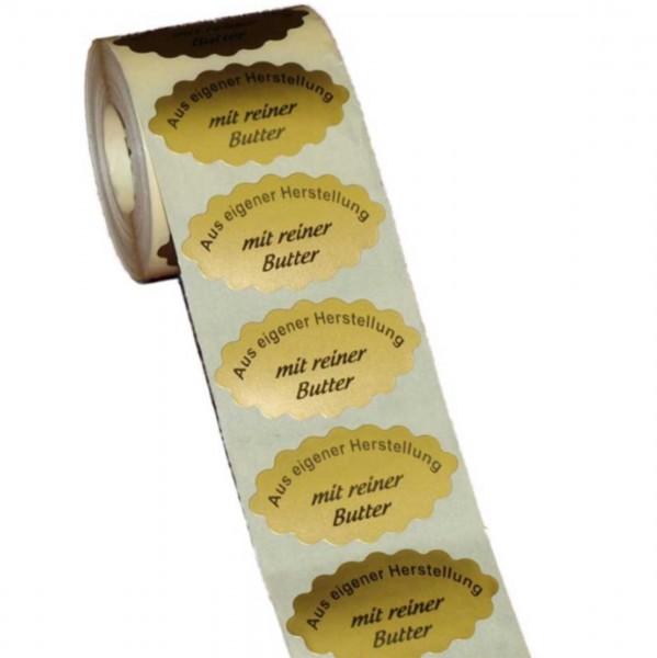 """Etiketten """"mit reiner Butter"""" 50x30mm"""