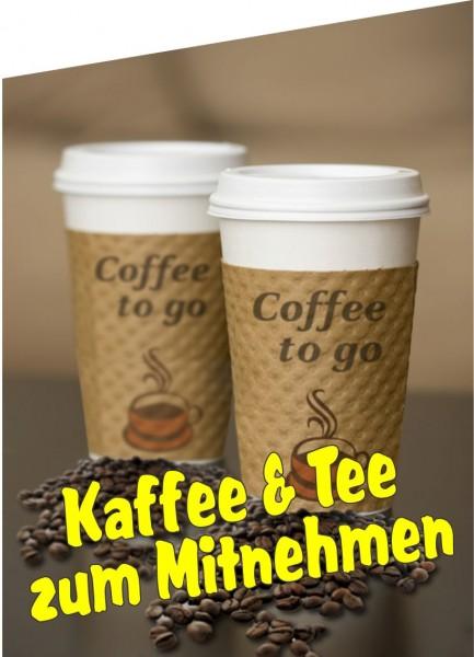 Fahne Kaffee und Tee zum Mitnehmen
