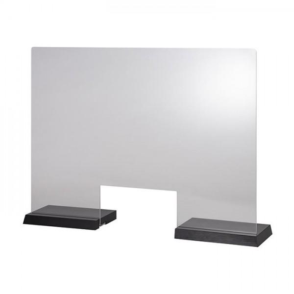 Hygieneschutzwand Wenge 75x57 cm mit Öffnung