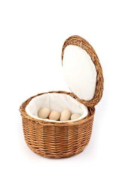 Eier-Korb 26cm - Muster - mit leichten Gebrauchspuren