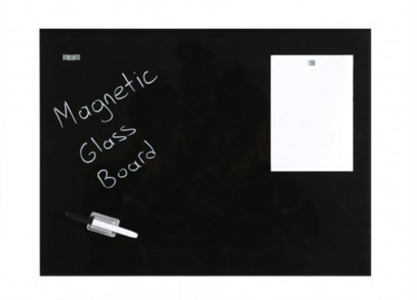 Magnetische Tafel, schwarz, aus gehärtetem Glas zur Wandaufhängung