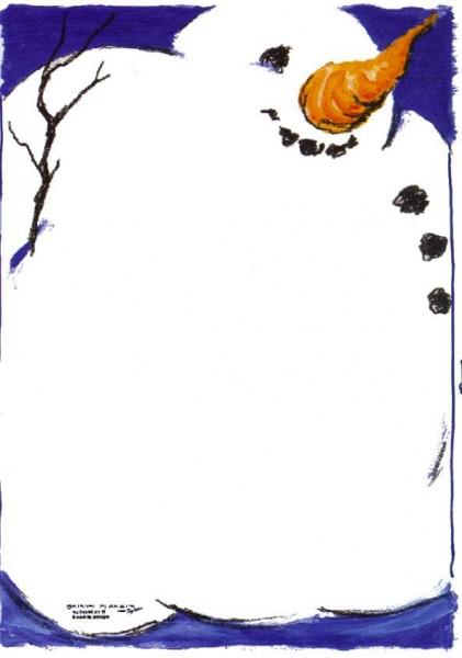 Wintermotiv, 4-farbig