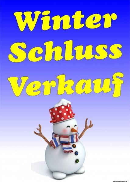 Winter-Schluss-Verkauf Schneemann