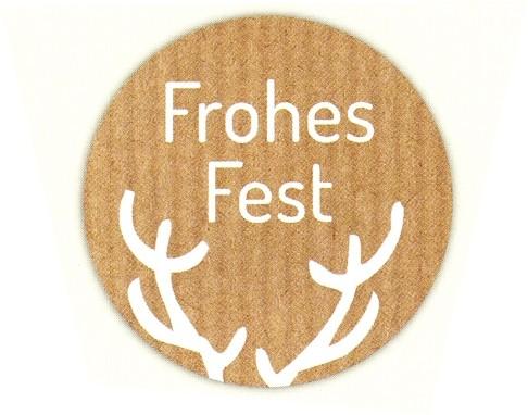 Frohes Fest Kreis braun-natur