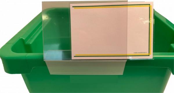 Kistenklemme DIN A6 - Querformat - ( 5 Stück )