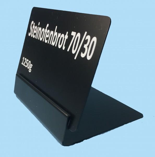 Preisschildständer aus schwarzem PVC, verschiedene Höhen ( 10 Stück )