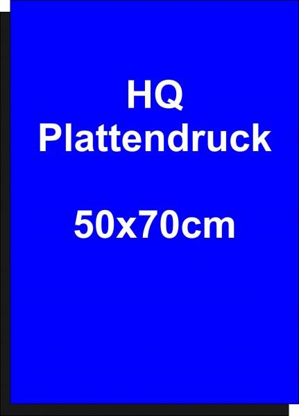 Plattendruckservice 4/0-farbiger Druck, UV-stabil auf Alu Dibond 3 mm HQ Größe 50x70cm