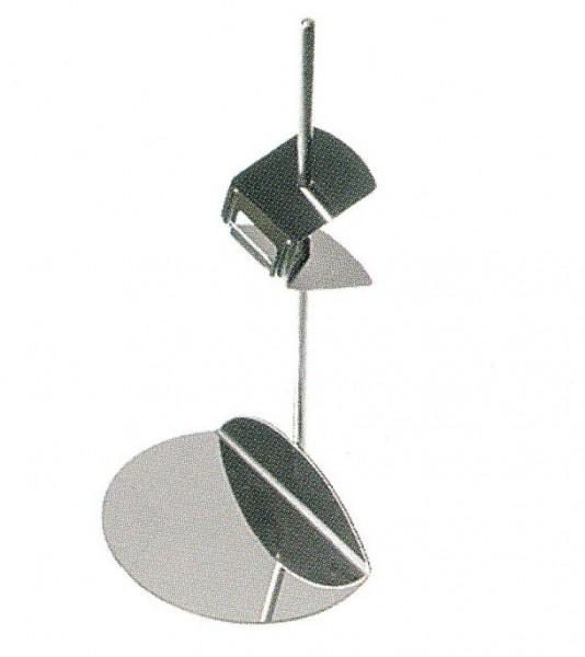 Preisschildständer aus Edelstahl 150mm - Höhenverstellbar