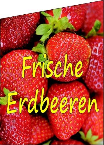 Fahne Frische Erdbeeren