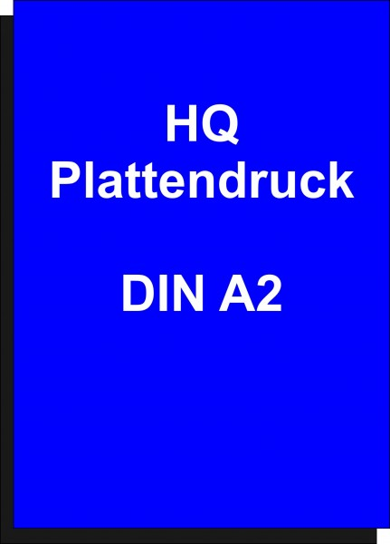 Plattendruckservice 4/0-farbiger Druck, UV-stabil auf Alu Dibond 3 mm HQ Größe DIN A2