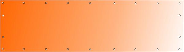 Bannerdruck 350 x 100 cm, PVC 510g