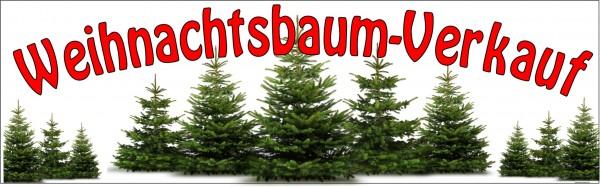 Standardbanner Motiv: Weihnachtsbaumverkauf 300x100 cm